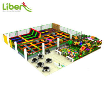 Big commercial elastic trampoline park for sale